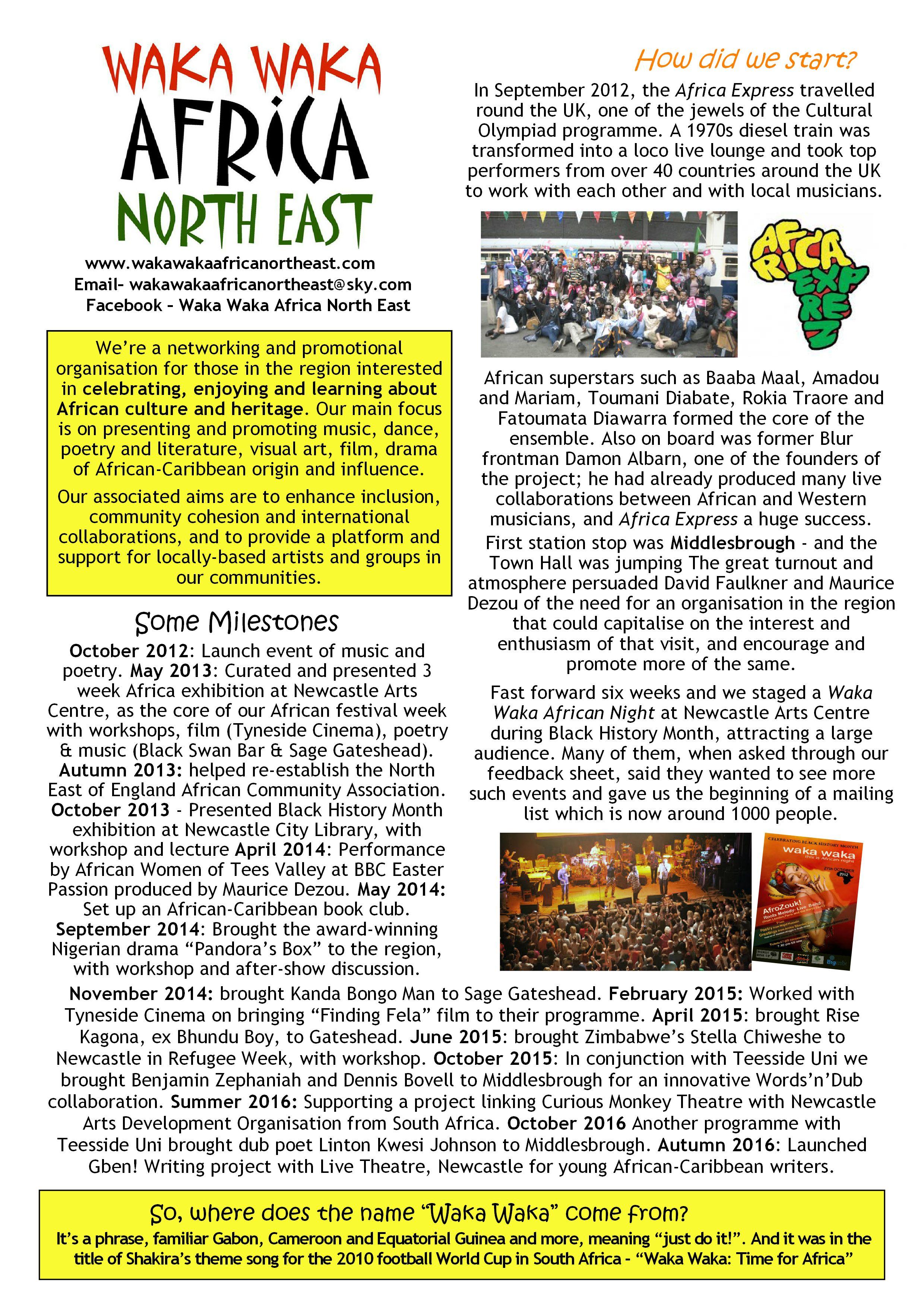 Waka waka africa north east waka review sciox Images